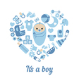 Baby boy shower background vector image