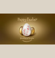 banner for easter holidays composition from vector image vector image