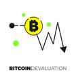 Bitcoin exhange graph vector image