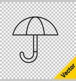 Black line classic elegant opened umbrella icon