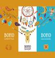 boho shop banners vector image