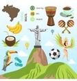 Brazil and Rio symbols vector image