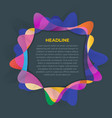 bright abstract business cover template design vector image vector image