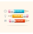 business infographics with pencils vector image vector image