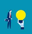 business man idea concept funding vector image vector image