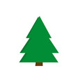 christmas trees icon green simple design vector image vector image