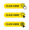 click here set web buttons with action of vector image vector image