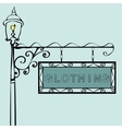 clothing retro vintage street sign vector image vector image