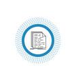 code coding doc programming script line icon vector image