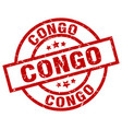 congo red round grunge stamp vector image vector image