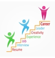 Creative colorful career path vector image vector image