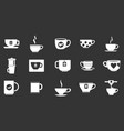 cup icon set grey vector image