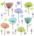 cute pastel floral pattern vector image vector image