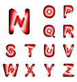 Design ABC letters from N to Z vector image vector image