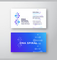 dna spiral abstract sign or logo vector image