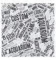Do You Need To Order A Custom Aquarium text vector image vector image