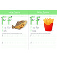 f for fish and f for fries vector image vector image