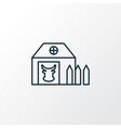 farm house icon line symbol premium quality vector image