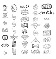 Hand drawn design elements Catchwords with and in vector image vector image