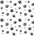 Hand drawn Sketch cats paw and traces seamless vector image