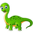 happy brontosaurus isolated on white background vector image