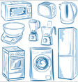 Home Appliances set vector image