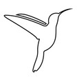hummingbird icon black color flat style simple vector image vector image