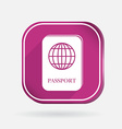international passport Color square icon vector image