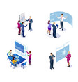 isometric concept of analytics strategy vector image vector image