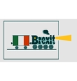 Italy and EU relationships Brexit text vector image vector image