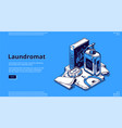 landing page laundromat with soap vector image