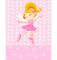 little blond princess vector image vector image