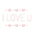 love 3 hand lettering cards - handmade calligraphy vector image vector image