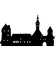 Medieval town vector image