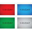 monday to tuesday turning text set vector image