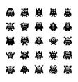 monster characters pack vector image vector image