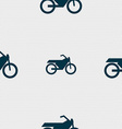 Motorbike icon sign Seamless pattern with vector image vector image