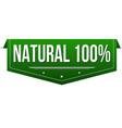 natural 100 banner design vector image vector image