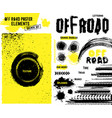 off-road poster elements vector image vector image