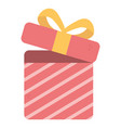 open gift box surprise merry christmas vector image vector image
