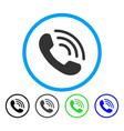 phone call rounded icon vector image vector image