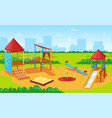 playground for kids cityscape city yard park vector image vector image