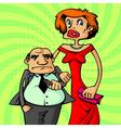rich happy couple vector image vector image