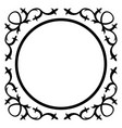 round frame with vintage corner vector image vector image