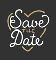 save date in heart shape invite card template vector image vector image