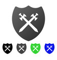 security shield flat gradient icon vector image vector image