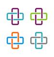 set cross health care logo template design eps 10 vector image vector image