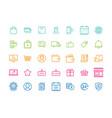set e-commerce modern flat thin icons vector image vector image