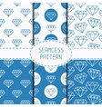 Set of blue hipster fashion geometric seamless vector image vector image