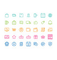 set of e-commerce modern flat thin icons vector image vector image